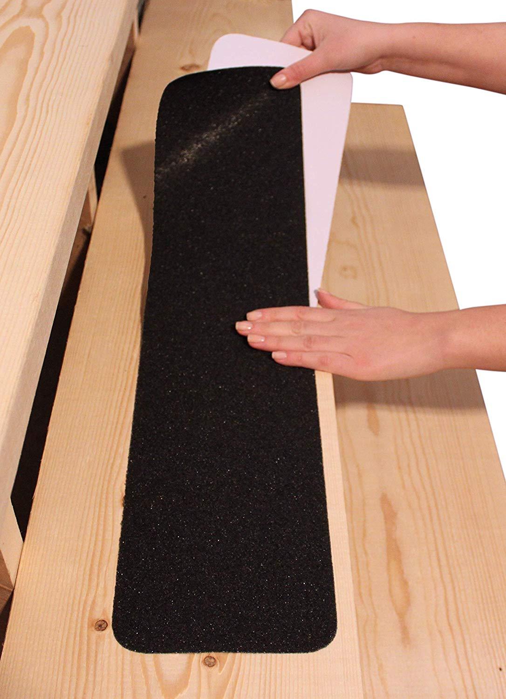6 X30 Stair Treads Non Slip Outdoor Tape 10 Pack Black Anti Slip Strips Finehous