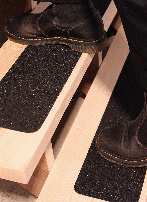 6 X40 Stair Treads Non Slip Outdoor Tape 10 Pack Black Anti Slip Strips Finehous